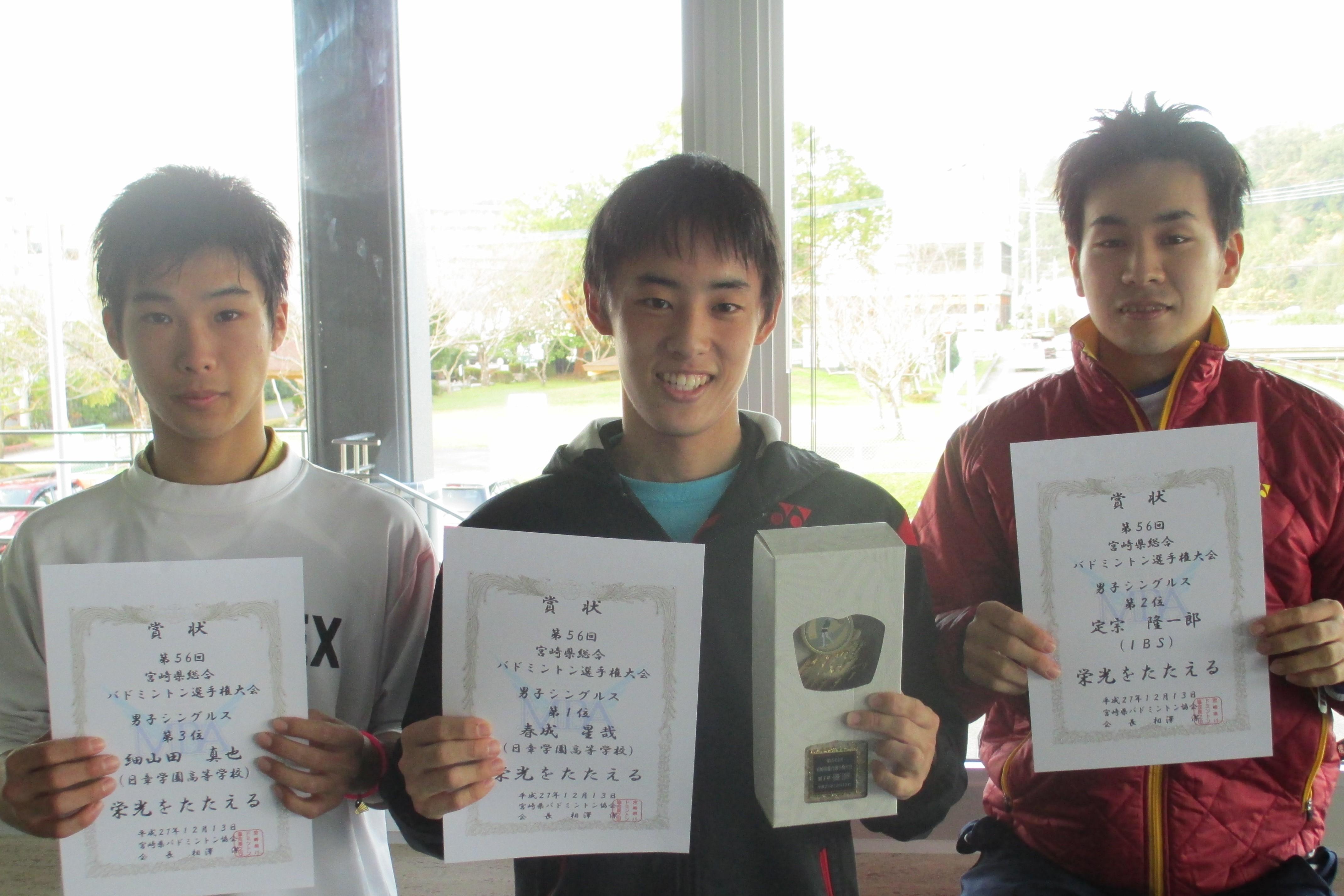 第56回宮崎県総合バドミントン選手権大会(単) 結果
