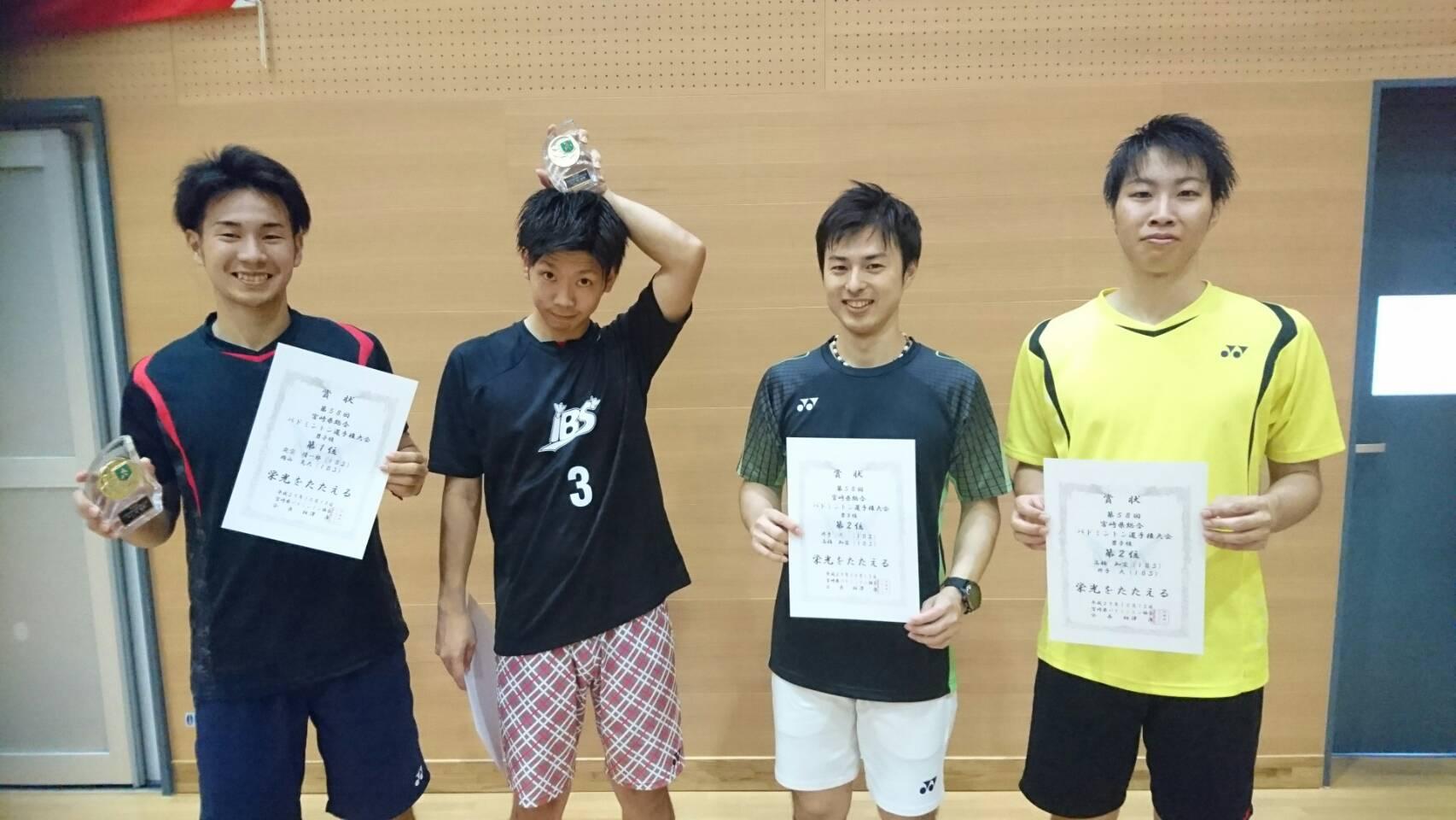 第58回宮崎県総合バドミントン選手権大会(複)