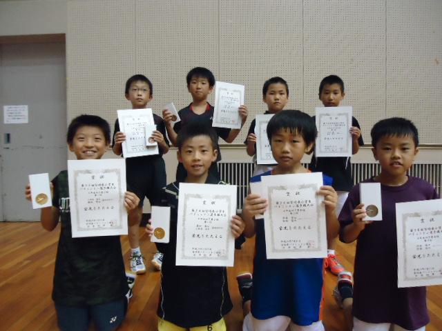 第34回宮崎県小学生バドミントン選手権大会結果