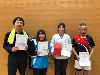 第40回宮崎県混合複バドミントン選手権大会・クラス別大会結果