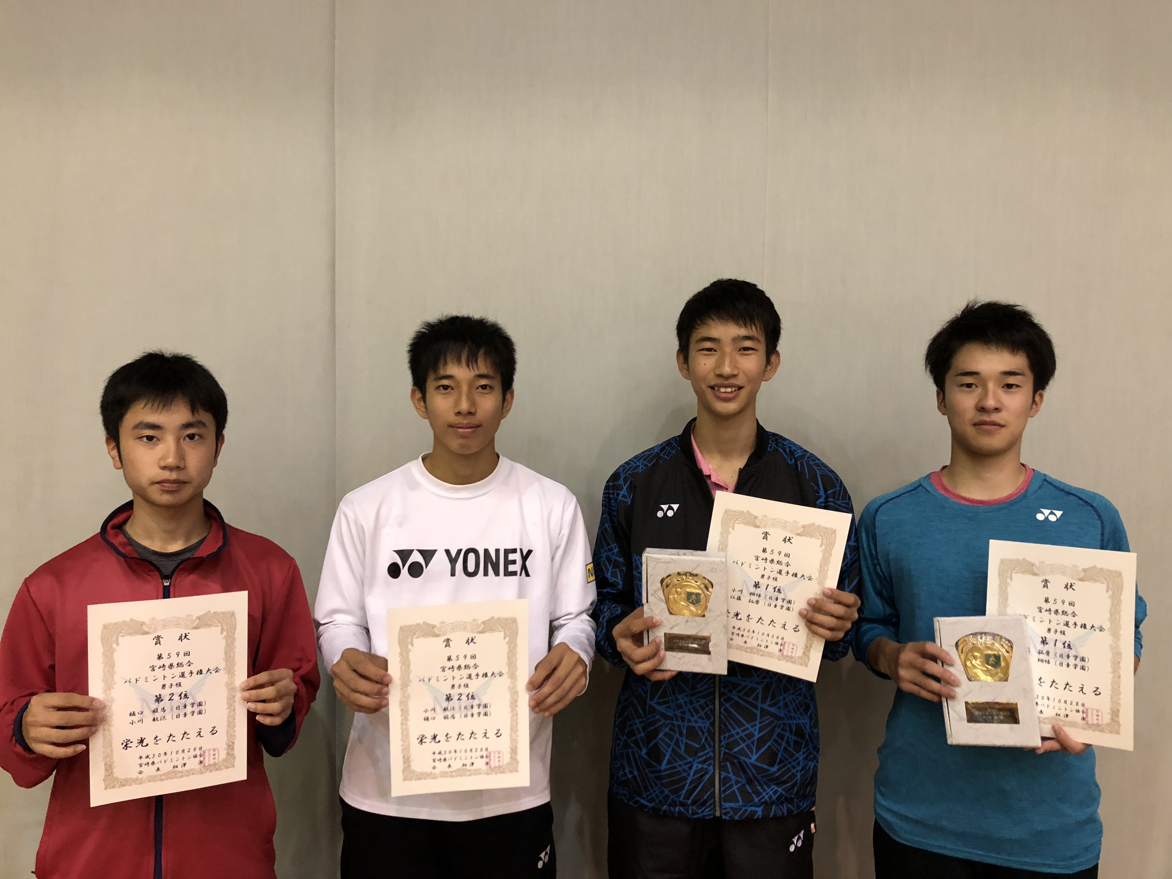 第59回宮崎県総合バドミントン選手権大会ダブルス