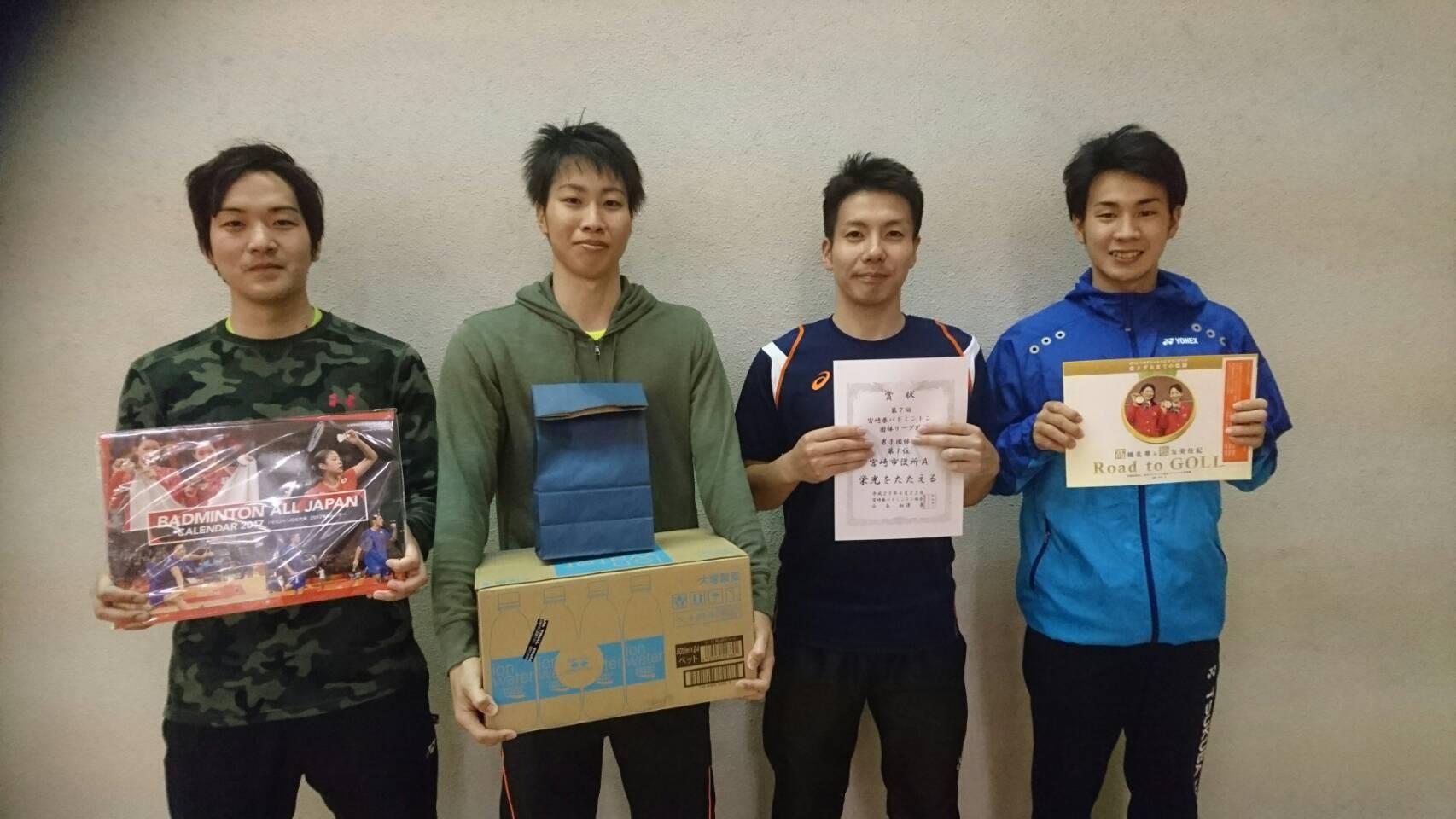 第7回宮崎県バドミントン団体リーグ戦